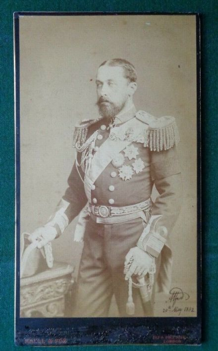 Antique Signed Royal Presentation Photo Prince Alfred Duke of Edinburgh 1882